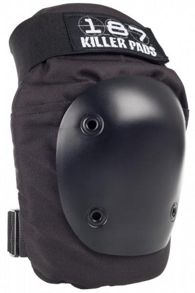 187 Killer Pads – Fly Knee Pad – Black/Black, Erwachsenen-Größe: XS